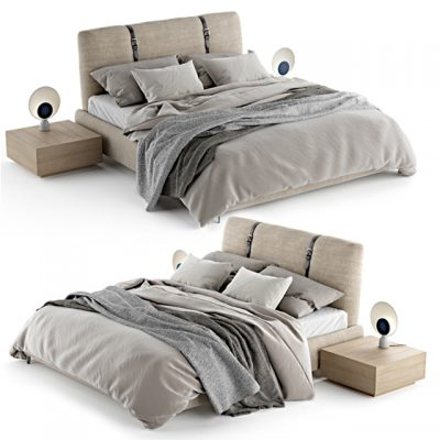 Zanotta Legami Bed 3D Model