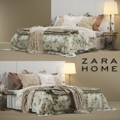 ZARA HOME Bedroom Set 2 3D Model