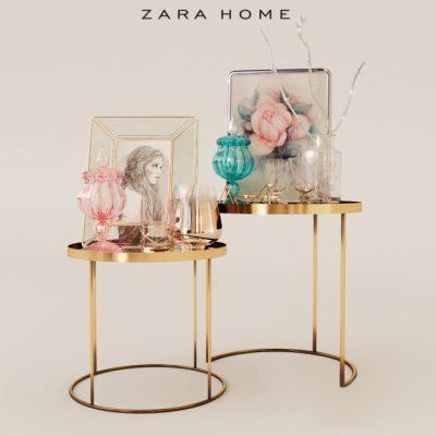 Zara Home Table Pack 3D Model