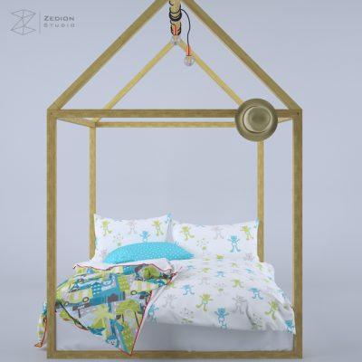 Zed Kids Bed 3D Model