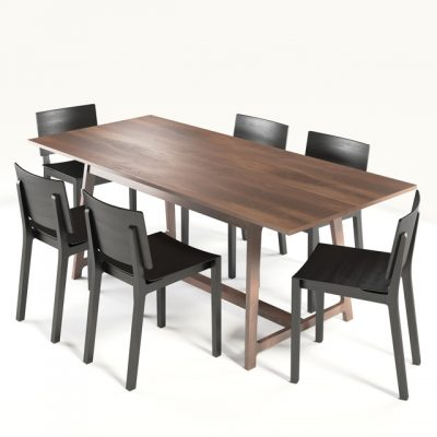 Zeitraum Tavola Zeitraum Finn Table & Chair 3D Model