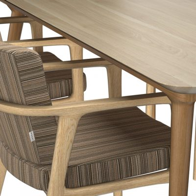 Zio Dining Table & Chair 3D Model 2