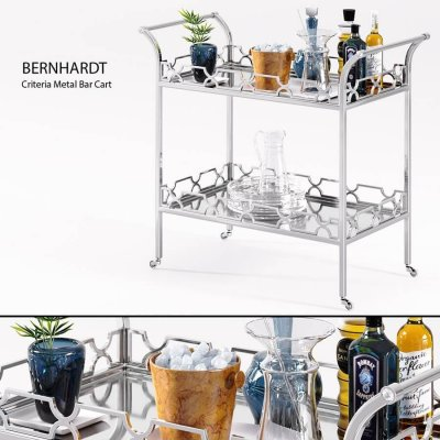 Bernhardt - Criteria Metal Bar Cart 1