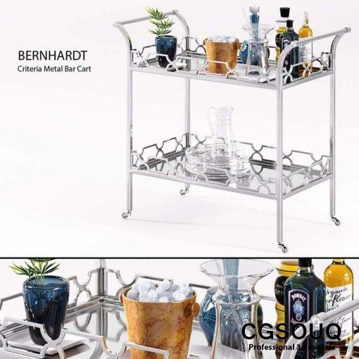Bernhardt - Criteria Metal Bar Cart 1