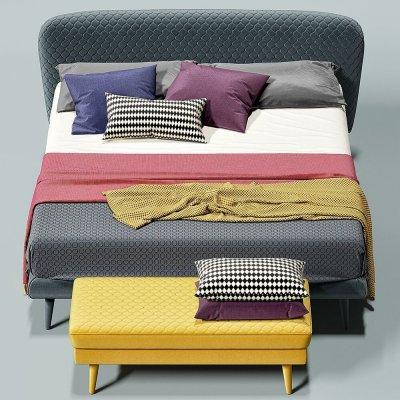 Corolle by Bolzan Letti Bed 3D models