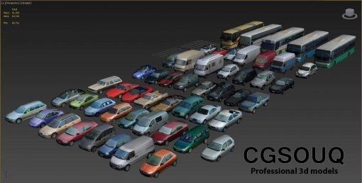 Low-poly vehicles 3d model