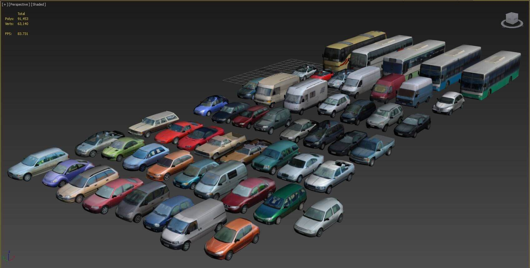 Low Poly Vehicles 3D model for Download | CGSouq com