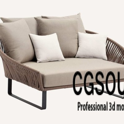 Kettal Bitta Lounge Chair Outdoor Furniture 3D model
