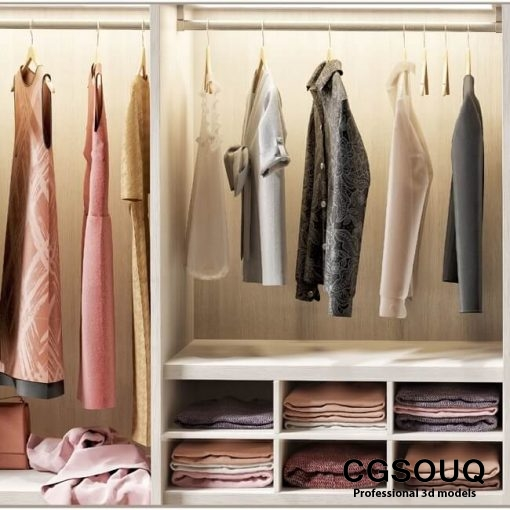 flou wardrobe 3d model 4
