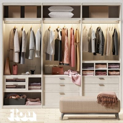Flou Cloth Wardrobe 3D model