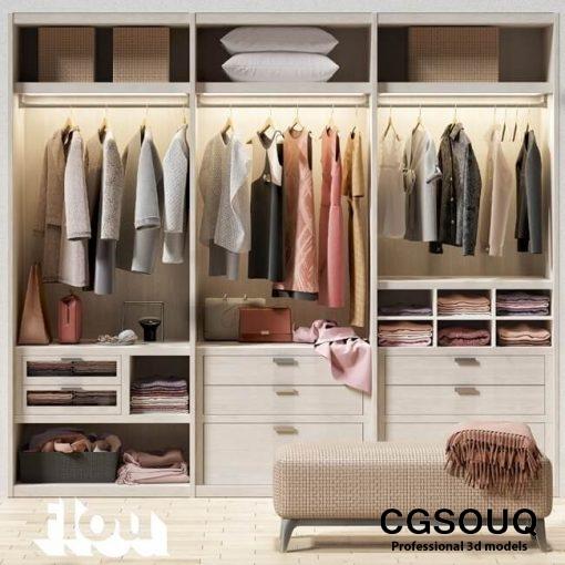 flou wardrobe 3d model 1