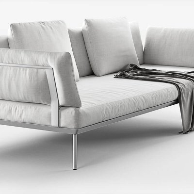 iCarraro poissy for out Sofa armchair 3D Model