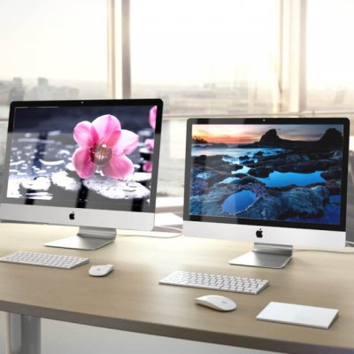 Apple iMac 2015 4k 5k RETINA with Accessories 3d model