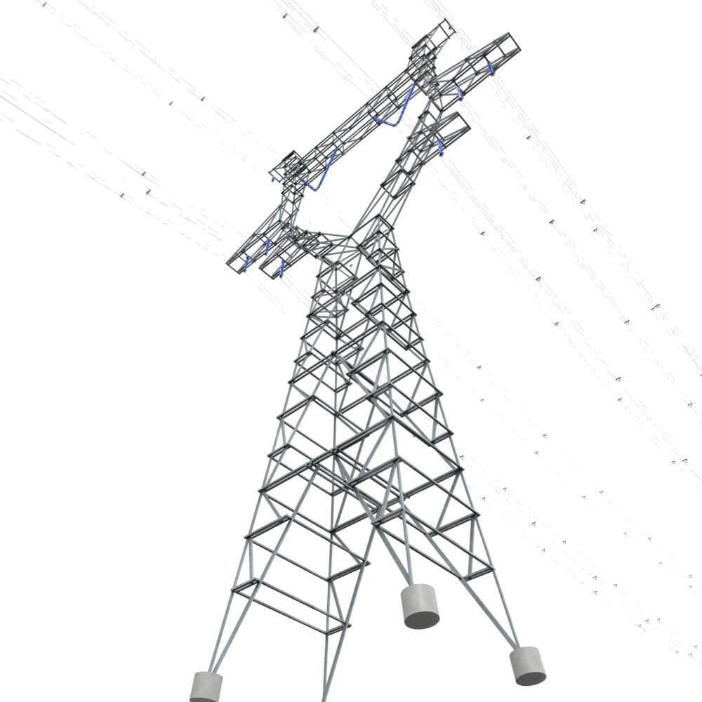 modular powerlines 3d model low poly6