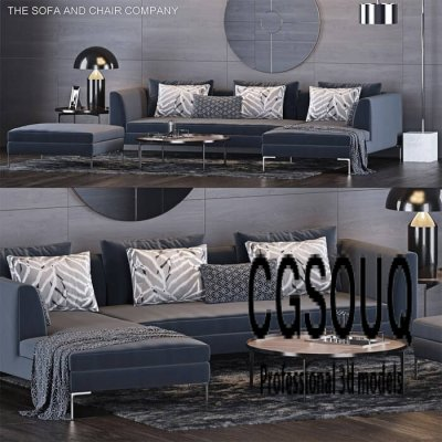 The Sofa and Chair Company Sofa 3D Model