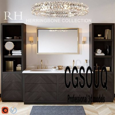 Restoration hardware Herringbone collection 3D model