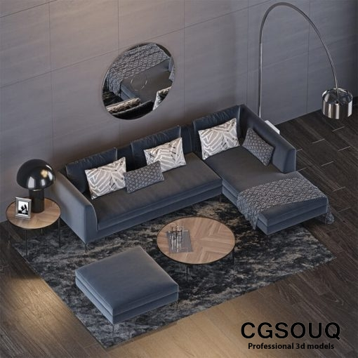 The Sofa and Chair Company Sofa 3D Model 2