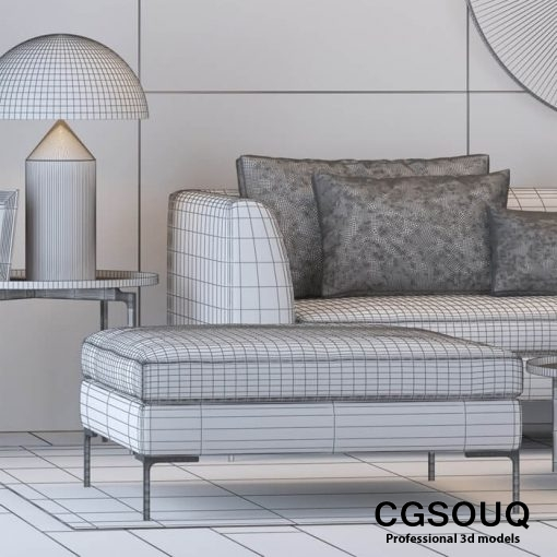 The Sofa and Chair Company Sofa 3D Model 3