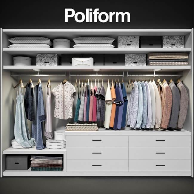 Wardrobe Poliform Ego Cloth 3D Model