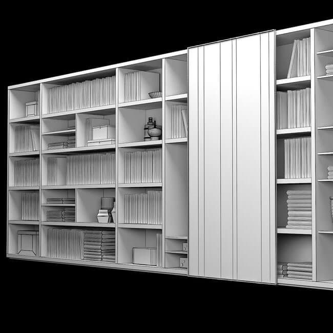 Poliform Wall Stystem 6 3D Model for Download | CGSouq.com