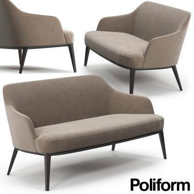 Poliform Jane Sofa 3D Model