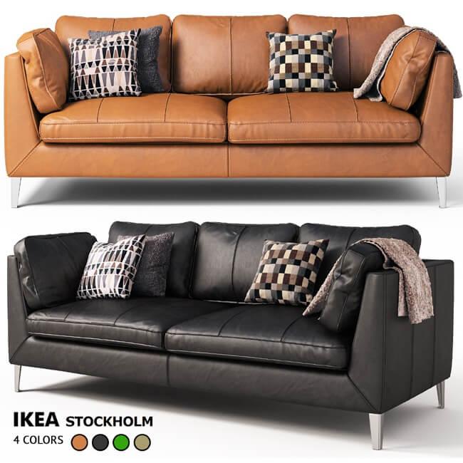 Superb Sofa Stockholm Ikea 2012 3D Model Nice Ideas