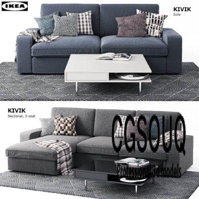 Kivik sofa 3d model