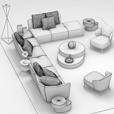 Minotti lounge seymour 3D model
