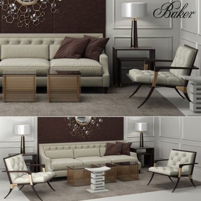 Baker Furniture Set 3d Model