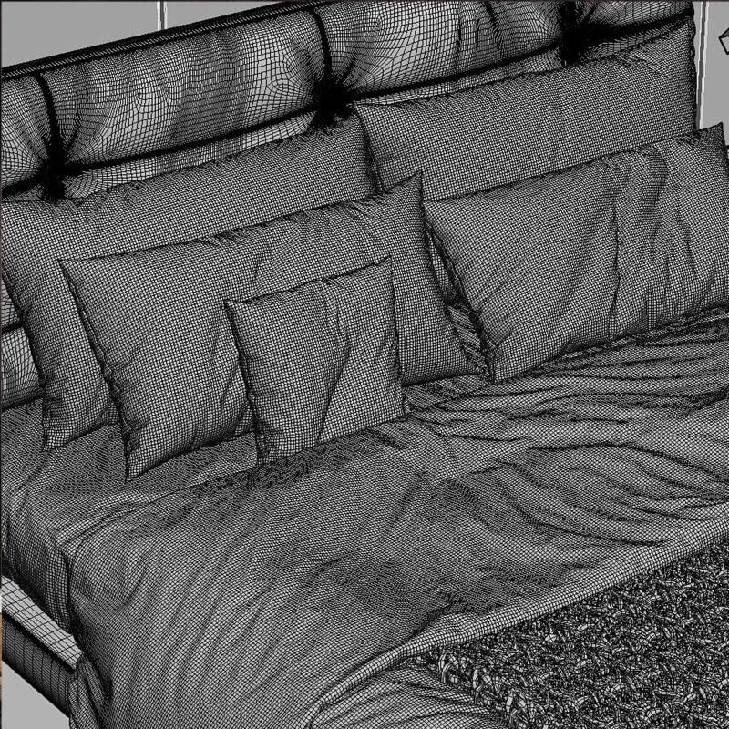 Baxter viktor 5 Bed 3D model 4