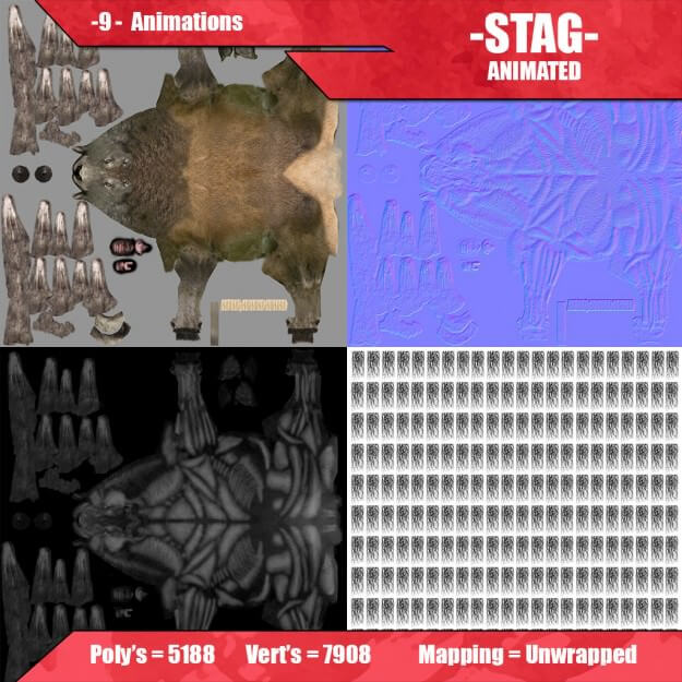 stag animated 3